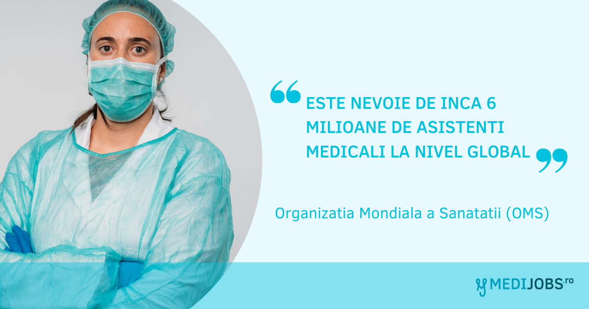 "Organizatia Mondiala a Sanatatii (OMS): ""Este nevoie de inca 6 milioane de asistenti medicali la nivel global"""