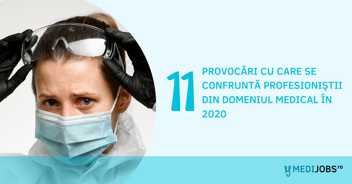 Top 11 provocări cu care se confruntă profesioniștii din domeniul medical în 2020