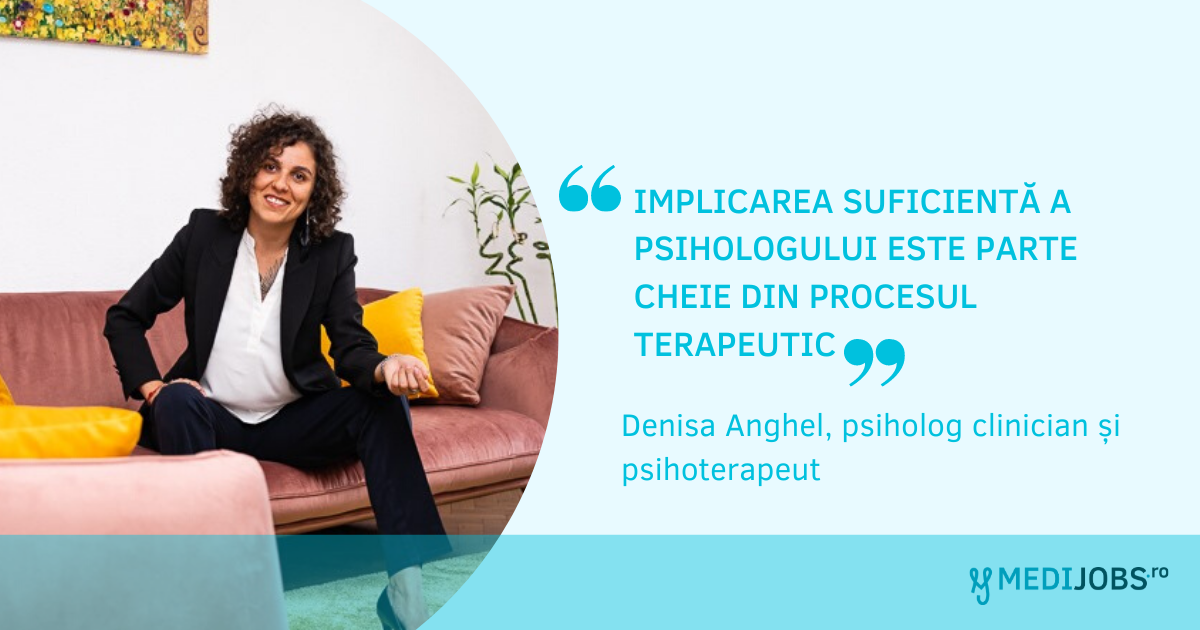 INTERVIU | Denisa Anghel, psiholog clinician și psihoterapeut