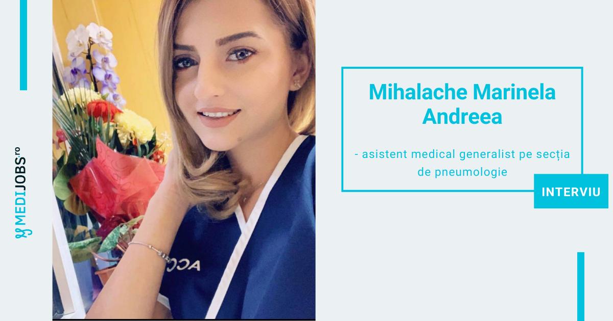 INTERVIU | Mihalache Marinela Andreea, asistent medical generalist pe secția de pneumologie