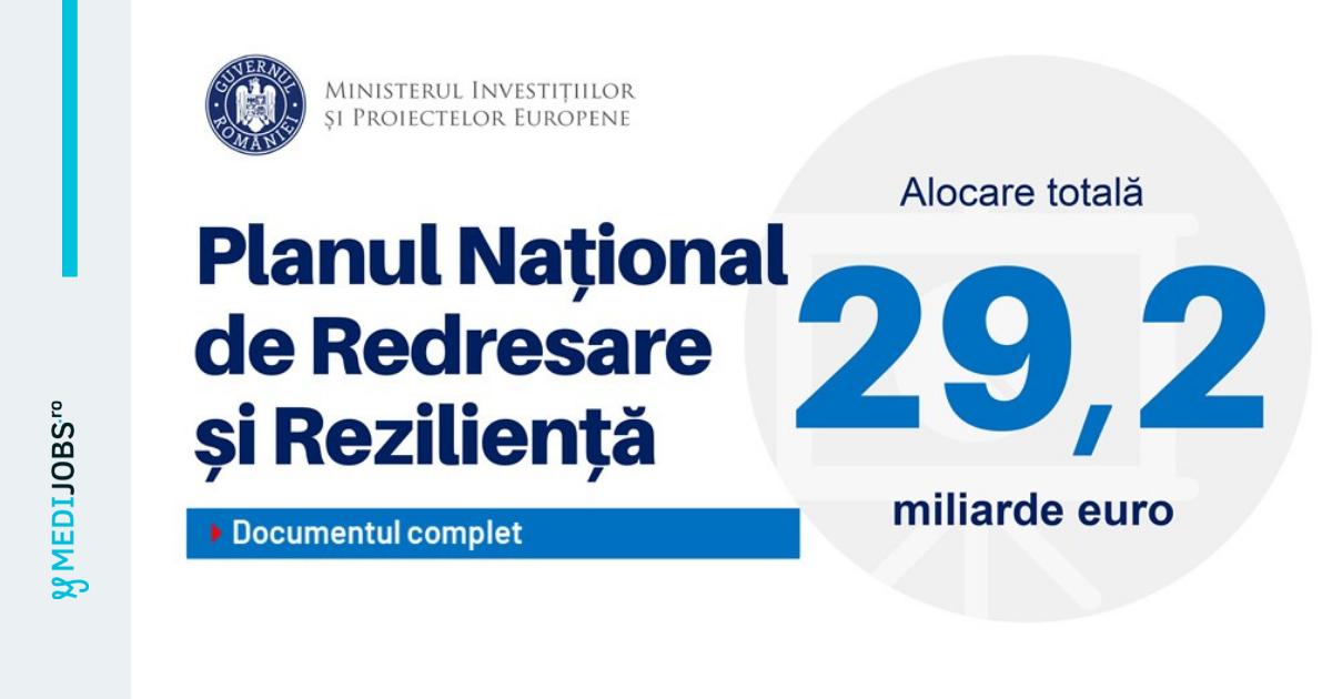 Ce cuprinde PNRR pentru Sănătate. Va fi înființată o nouă instituție pentru construirea spitalelor